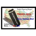 15OZ Black Laserable Travel Mug