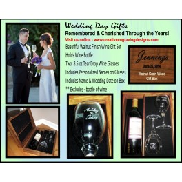 Wedding Wine Gift Box Set