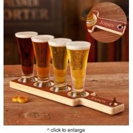 Real Wood Beer Tasting Set
