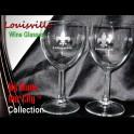 Louisville Fleur De Lis Wine Glasses