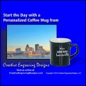Black 10oz Coffee Mug Laserable