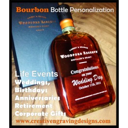 Bourbon Bottle PERSONALIZATION 2 sides