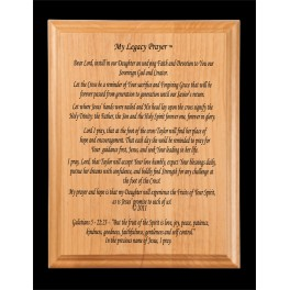 5x7 Legacy Prayer - Alder Wood