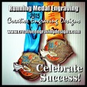 Running Medal Engraving