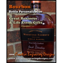 Bourbon Bottle PERSONALIZATION 1 side