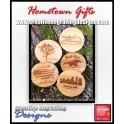 Bamboo Coasters Round