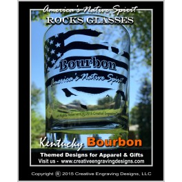 8oz America's Native Spirit - Bourbon Rocks Glass
