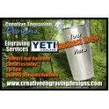 YETI Tumbler - 20oz Engraving Service