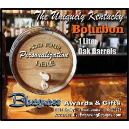 1 Liter Mini-Oak Bourbon Barrel - Personalized