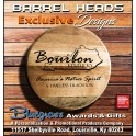 "15"" Bourbon Barrel Head Mini"
